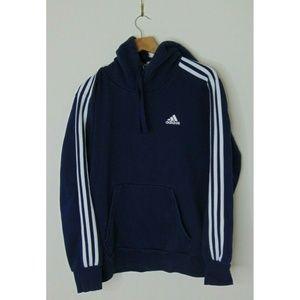 Adidas Medium Hoodie Sweatshirt Pullover Blue